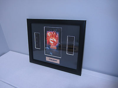 Star Wars Movie A New Hope Double Filmcell Rye By Post Framed COA