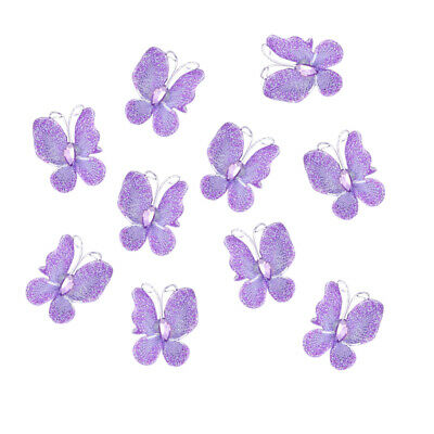 50 Stocking Butterfly Wedding Decoration 3x2cm 10 color