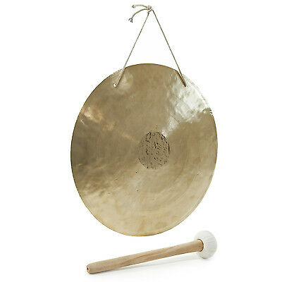 "New 18"" Gong & Beater with Hanging Strap by Gear4music"