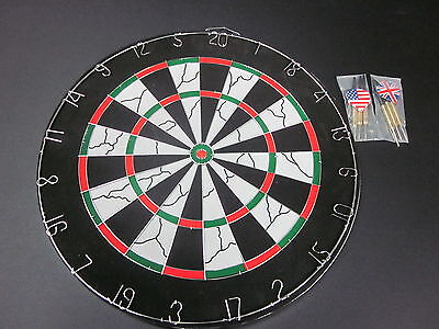 Dart Board with 6 Darts  With Reversible Games