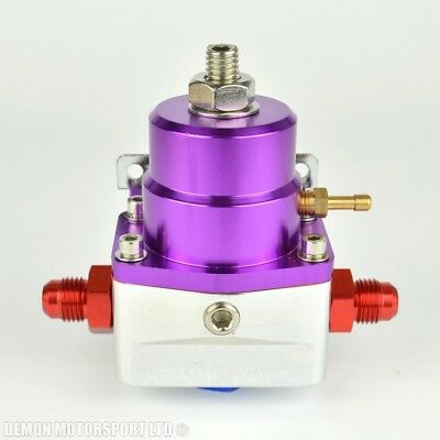 AN -8 (8AN) FPR Fuel Pressure Regulator Purple With An8 Fittings 100 Psi 1:1