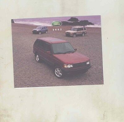 2002 Land Rover Range Rover Salesman's Note Card Brochure my5366