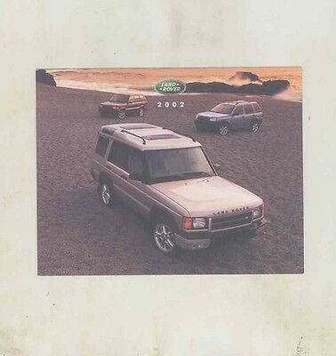 2002 Land Rover Range Rover Salesman's Note Card Brochure my5368
