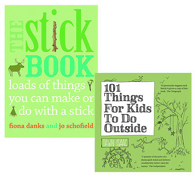 The Stick Book &101 Things For Kids To Do Outside 2 Books Set Pack NEW
