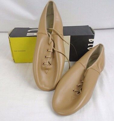 Bloch JazzFlex Leather Dance Shoes NEW Child 12.5 Tan with laces  71F  S0404g