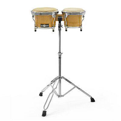 "New Bongo (7"" + 8.5"") and Stand Set by Gear4music"