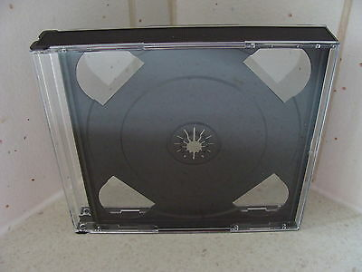 Case: CD / DVD / Games - 1 - For 3 Discs - Black Professional Jewel Style