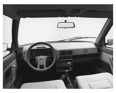 1985 Citroen BX 19 GT Interior Automobile Photo Poster zch8521