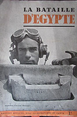 WW2  LA BATAILLE D EGYPTE RAPPORT OFFICIEL PHOTOS et CARTE CHARS PANZERS GENIE