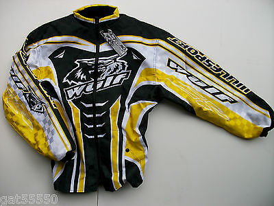 New Wulfsport Xxl Enduro Motocross Trials Jacket Yellow Suzuki Drz Rm Rmz Dr Ltz