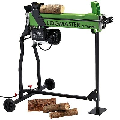 Electric Hydraulic Log Splitter & Stand 6 Ton Fire Wood Cutter by Logmaster New