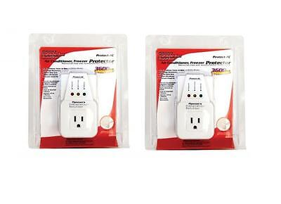 2 Lot Pack Appliance & A/c Brownout Voltage Surge Protector 3600 Watts Va