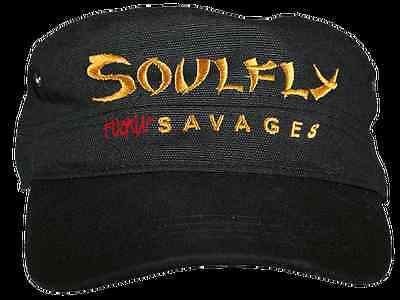 Soulfly - Fuckin Savages Logo Bestickt  Army Cap Neuf