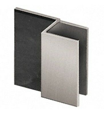 Brushed Nickel Square Style Frameless Shower Door Stop