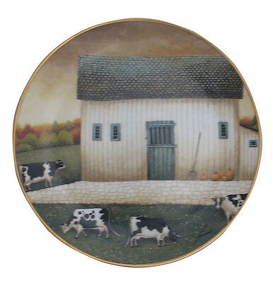 Autumn Grazing American Folk Art Lowell Herrero Franklin Mint Country Cow Plate