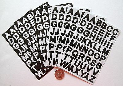 Scrapbooking No 351 - 300 Small Black & White Alphabet Stickers - Capitals Only
