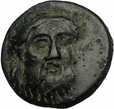 ADRAMYTION in MYSIA 350BC Zeus Eagle Genuine Authentic Ancient Greek Coin i52415