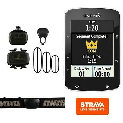 Garmin Edge 520 Bundle + Fascia Premium +Sensori + Staffe Garanzia 24 Mesi It