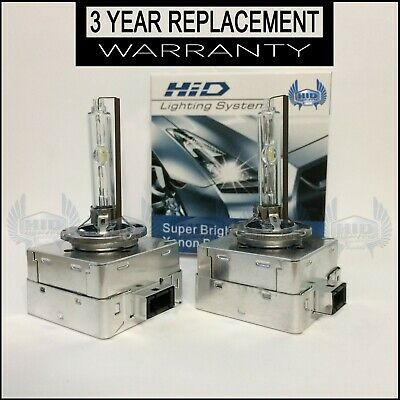 NEW OEM Set 2x D3S Xenon HID Bulbs 5500k 6500k HIGH QUALITY W/ 2 YEAR WARRANTY