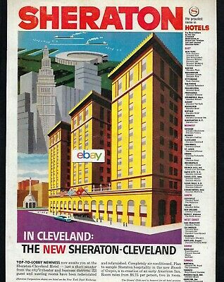 Sheraton Hotels New Name In Cleveland Ohio Next To Union Station 1959 Ad