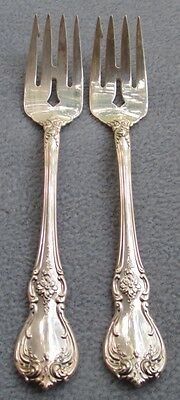TWO Towle Old Master Sterling Silver Salad Forks