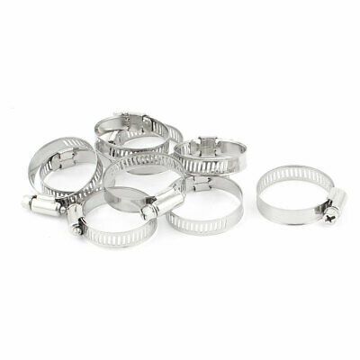 "9 Pcs 0.8"" - 1.5"" Range Stainless Steel Ring Hose Clamp Gator for Worm Drive"