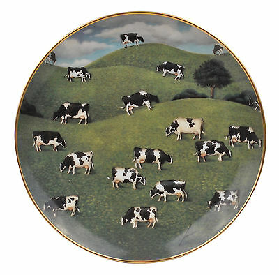 Hillside Herd American Folk Art Lowell Herrero Franklin Mint Country Cow Plate
