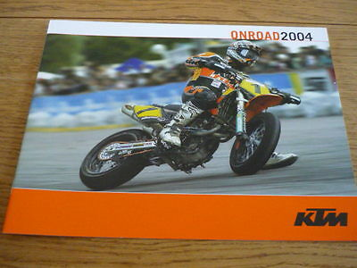 KTM ON ROAD RANGE 2004 MOTORBIKE BROCHURE   jm