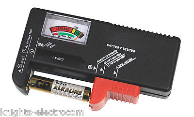 Universal Battery Tester test all size batteries 1.5V 9V AAA AA PP3 C D checker
