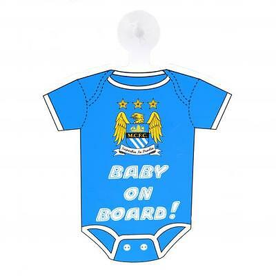 Manchester City Baby On Board Sign Car Hang Up Official Man FC Football Club New