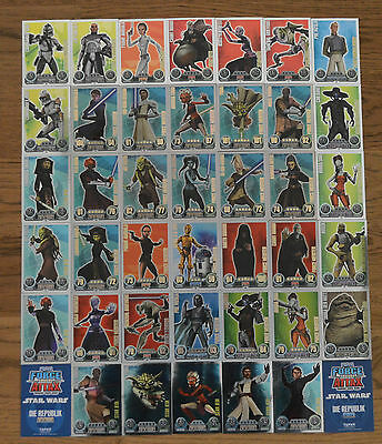Force Attax Clone Wars Serie 1 *Force Meister aussuchen Topps Star Wars Karten*