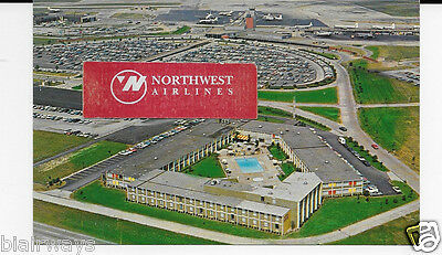Cleveland Hopkins International Airport Hotel Aerial Ual Dc-6-Viscount Postcard