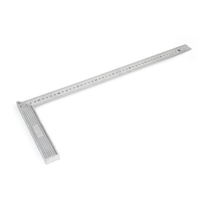 50cm Length Stainless Steel L-Square Angle Square Ruler Silver Tone
