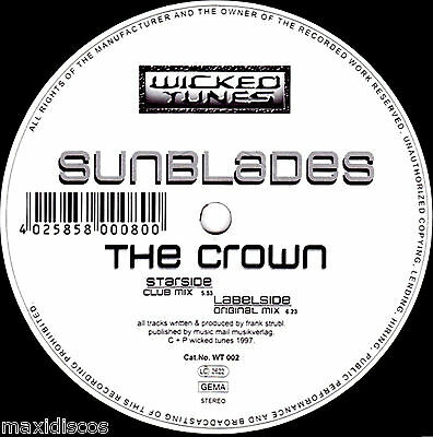 "12"" - Sunblades - The Crown (TRANCE) PRESS IN GERMANY 1997,MINT,STOCK STORE COPY"