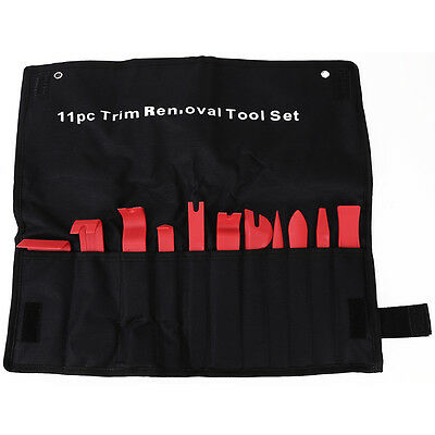 11 in 1 Automotive Car Door Panel Clip Trim Remover Removal Pry Tool Kit w Bag
