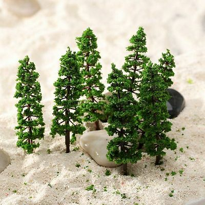 10PCS 9cm Pine Trees Model Street Park Train Railway Scenery HO N Scale Layout