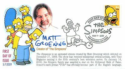 """COVERSCAPE computer generated """"The Simpsons"""" FDC"""