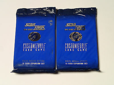 STAR TREK CCG The Next Generation Sealed Lot of 2 Booster packs! White Border
