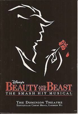 Beauty & The Beast The Dominion Theatre Programme 1998