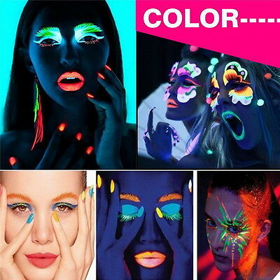12 colors Paint Glow in the Dark Face & Body Paint Fluorescent Super Bright A