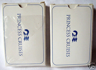 Two Decks of Playing Cards Princess Cruises Bridge Size Complete with Boxes