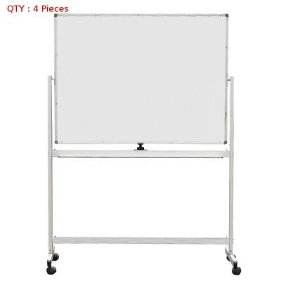 4 X New 900X1200Mm Double Sided Magnetic Whiteboard With Aluminum Stand E0