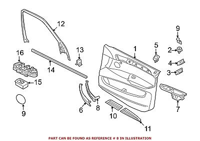 New BMW Genuine X5 & X6 Front Door Pull Handle Rear Section 51 41 6 969 402
