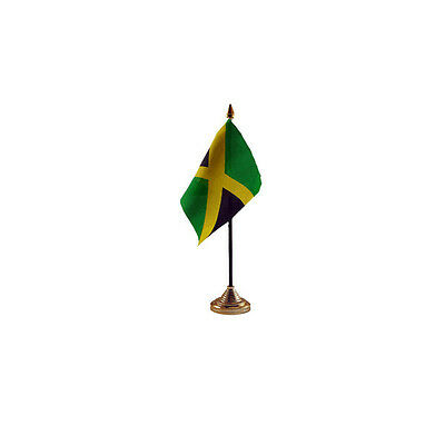 Jamaica Table Desk Flag - 10 x 15 cm National Country Hand Caribbean
