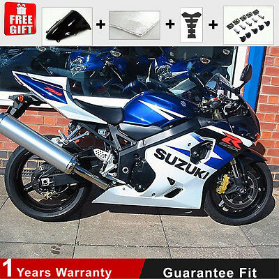 Injection for Suzuki GSXR 600 750 K4 K5 Fairing Kit ABS Plastic Bodywork