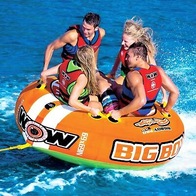 Wow Watersports Big Boy Racing Inflatable Towable Ski Tube (15-1130)
