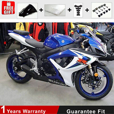 Blue Fairing for Suzuki GSXR 600 750 K6 K7 Injection ABS Plastic 06 07 Frame