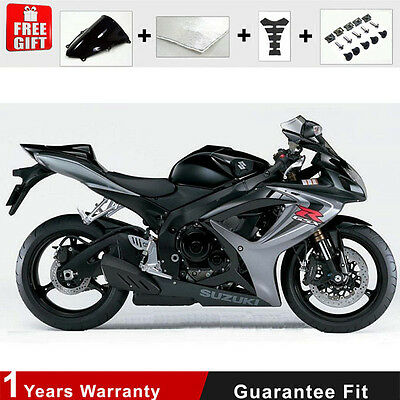 Fairing Kit for Suzuki GSXR 600 750 K6 K7 Injection Black Plastic 06 07 Frame