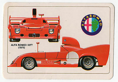1986 Portugese Pocket Calendar Featuring Le Mans Racing Car Alfa Romeo 33TT