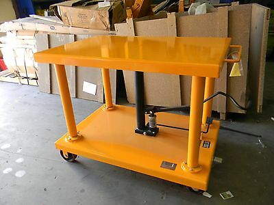 "Pan Asia Direct 673.42398621 48"" x 32"" Hydraulic Post Lift Table 2000lb 1Ton Cap"